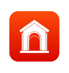 toy house icon digital red vector image