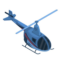 two passenger helicopter icon isometric style vector image