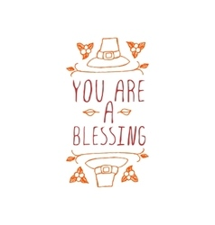 You are a blessing - typographic element vector