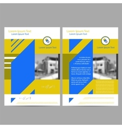 Annual report leaflet brochure flyer template vector