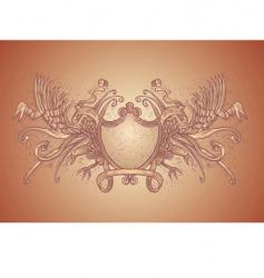 eagles crest vector image