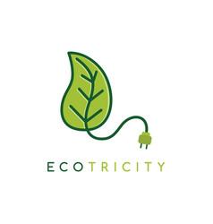eco energy symbol icon logo logotype template - vector image