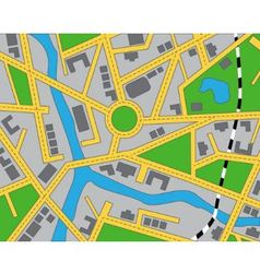 editable map of the area vector image