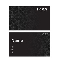 name card abstract polygonal black background vect vector image