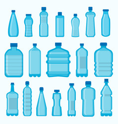 plastic bottles isolated icons set vector image vector image