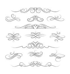Vintage calligraphic ornate decoration elements vector image vector image