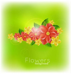 background with realistic flowers vector image vector image