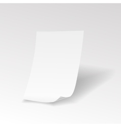 Empty paper sheet with curl vector image vector image