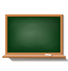 Green school board isolated on white background vector image vector image