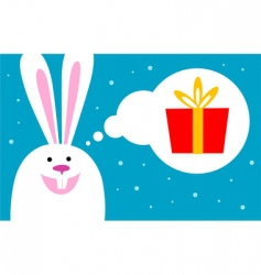 rabbit dreams of gift vector image vector image