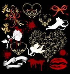 valentine design elements vector image vector image