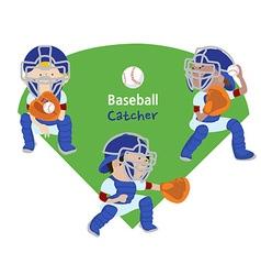 baseball catcher vector image vector image