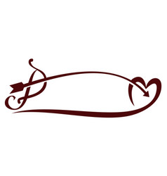 bow and love vector image