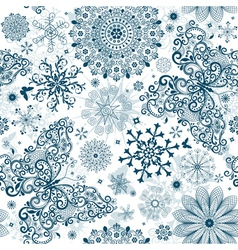 Christmas white seamless patter vector image vector image