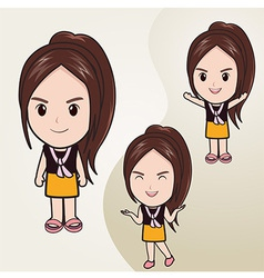 CuteGirl vector image