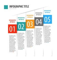 Flat vertical infographics options banner set vector image vector image