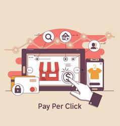 pay per click online bankinginternet marketing vector image vector image