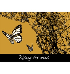Riding the wind vector image