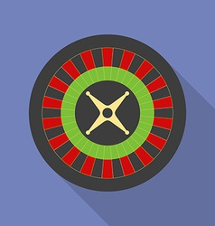 Roulette icon Modern Flat style with a long shadow vector image vector image