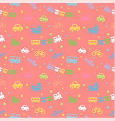 seamless pattern with cute baby toys vector image vector image