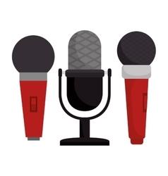 set microphone modern and vintage vector image