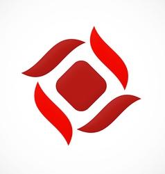 business circle abstract construction logo vector image