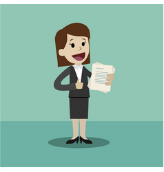 businesswoman has a lot of jobs job is finished vector image