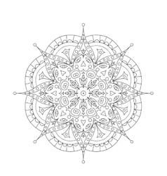 Coloring Book Mandala Circle lace ornament round vector image vector image