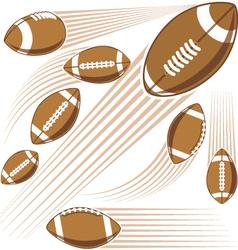 Flying american football ball vector image