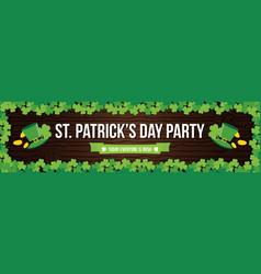 stpatricks day pub party flyer banner header vector image vector image