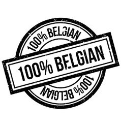 100 percent Belgian rubber stamp vector image