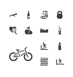 13 lifestyle icons vector