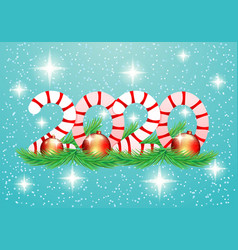 2020 new year banner vector image