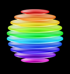 Abstract colorful sphere vector image