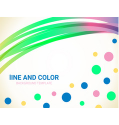 abstract wavy lines and dots background vector image