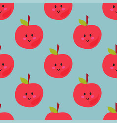 apple background textile red vector image