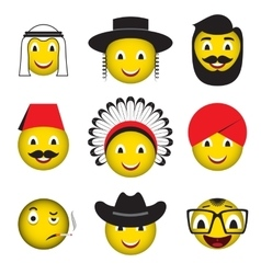 Avatar emoticons emoji smiley icons vector image