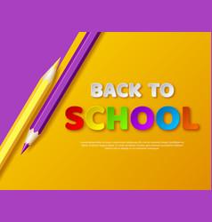 back to school typography design vector image