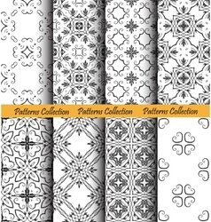 Backgrounds Floral Forged Patterns vector image