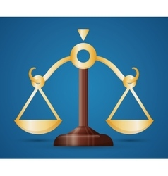 Balance law and justice vector image