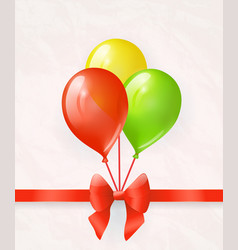 balloons with bow vector image