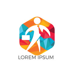 businessman logo design vector image