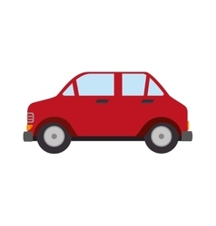 Car auto sedan side icon vector