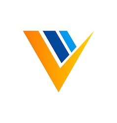 Check icon grow chart business logo vector