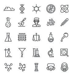 chemistry lab icon science laboratory equipment vector image