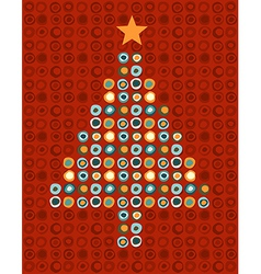 Colorful Christmas tree vector image