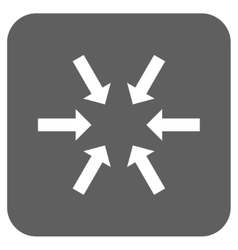 Compact Arrows Flat Squared Icon vector