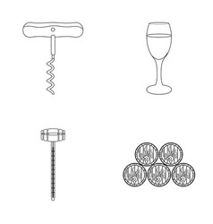 Corkscrew alcohol counter barrels in the vault vector