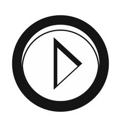 Cursor to right in circle icon simple style vector image
