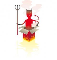 Devil box vector